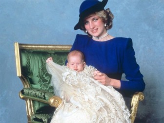 Princess Diana and Prince Harry of Wales.