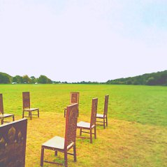 Art Instillation dedicated to the history of freedom at Magna Carta Memorial Meadows