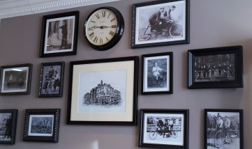 Arrival feature wall paying ode to the culture of riding cycles in Oxford