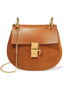 Chloe Leather Suede Satchel