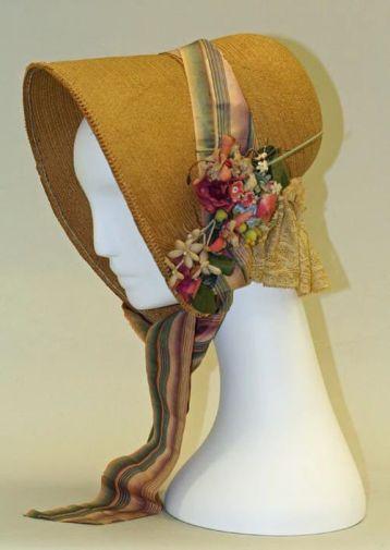 1830 Straw Bonnet : Image Courtesy metmuseum.org