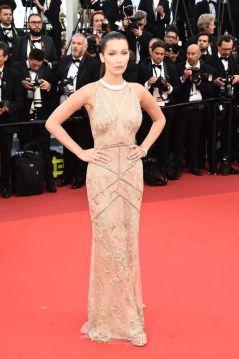 Bella Hadid in Cavalli Couture mermaid dress
