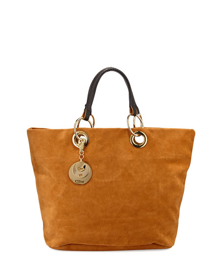 Chloe Suede Summer Warm Sand Tote
