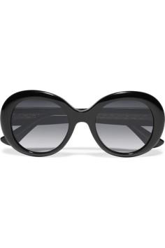 Gucci round frame acetate sunglasses