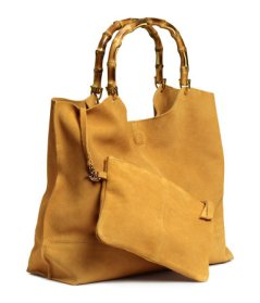 H&M Suede Shopper with Clutch