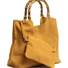 H&M Suede Shopper with Clutch