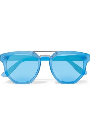 Le Specs Thunderdome D-frame matte-acetate sunglasses