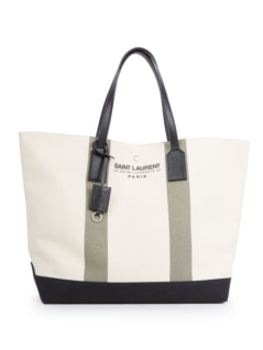 Saint Laurent Canvas Beach Tote