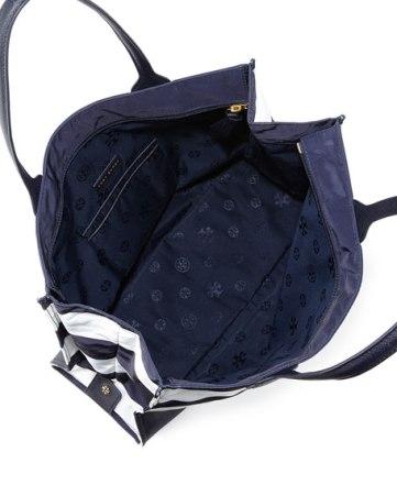 Ella Packable Striped Zip-Top Tote Bag