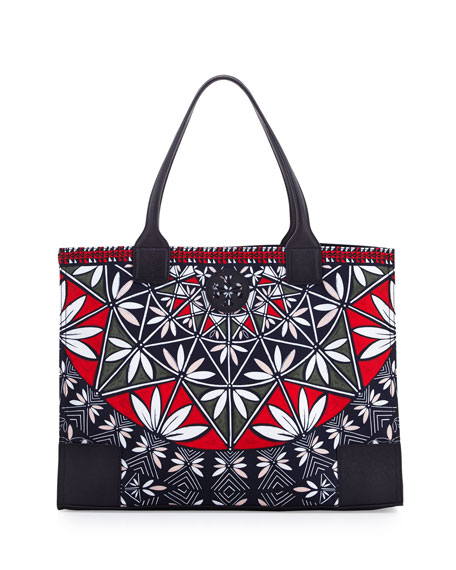 Tory Burch Ella Printed Packable Tote Bag, Pottery Print