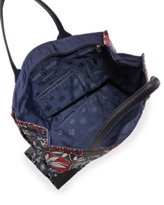Tory Burch Ella Printed Packable Tote Bag, Pottery Print