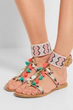 NP - MABU BY MARIA BK Embellished leather sandals