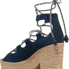 NP - TORY BURCH Positano suede platform espadrille sandals 2