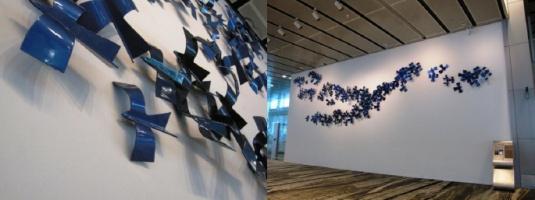 Birds In Flight. Image Courtesy : Changi International Airport