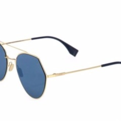 Fendi Notched Aviator Sunglasses. Shop at SaksFifthAvenue.com