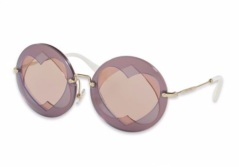 Miu Miu Mirrored Round Heart Sunglasses. Image Courtesy - Saks Fifth Avenue