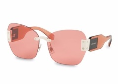 MIU MIU Logo Accented Sunglasses. Shop at saksfifthavenue.com