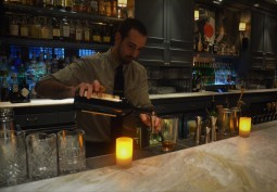 Bartender Robert Ficks at The Hawthorne Bar
