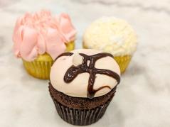 Pink Rose, Coconut and Lava Fudge Cupcakes at Georgetown Cupcakes