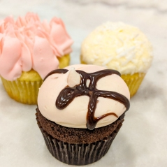 Pink Rose, Coconut and Lava Fudge Cupcakes at Georgetown Cupcakes