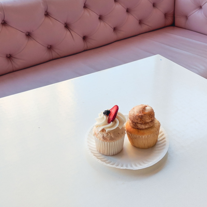 Chocolate Raspberry and Snickerdoodle Cupcakes at Sweet Bakery, Boston