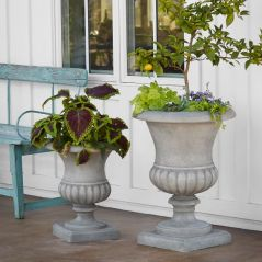 Giovanni Fibercement Fluted Planters by Pottery Barn