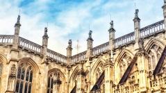 Queen's Beasts atop St George's Chapel