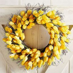 Faux Tulip Wreath by Pier 1 Imports