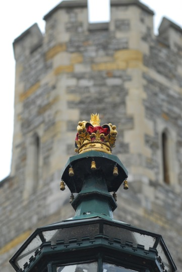Royal Crown Lamp at Windsor Castle