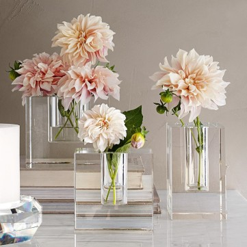 Crystal Block Vase by Williams Sonoma