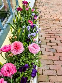 Window Floral Dressing outside shops