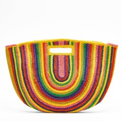Multicolored Straw Bag by Bershka