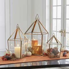 Brass Candle Holders by Crate and Barrel