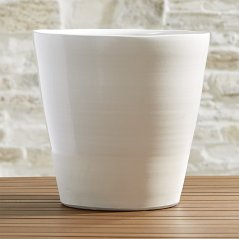 Large White Planter by Crate and Barrel