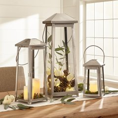 Petaluma Nickel Candle Holder by Crate and Barrel