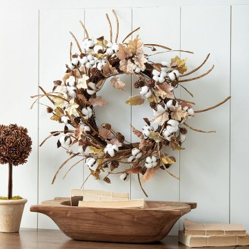 Cotton Leaf Wreath by Ballard Designs