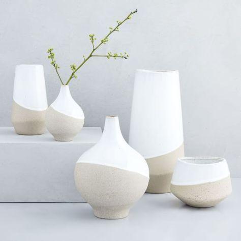 Half Dipped Stoneware Vases