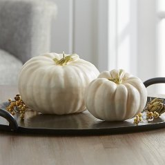 Ivory Pumpkin Candles by Crate and Barrel