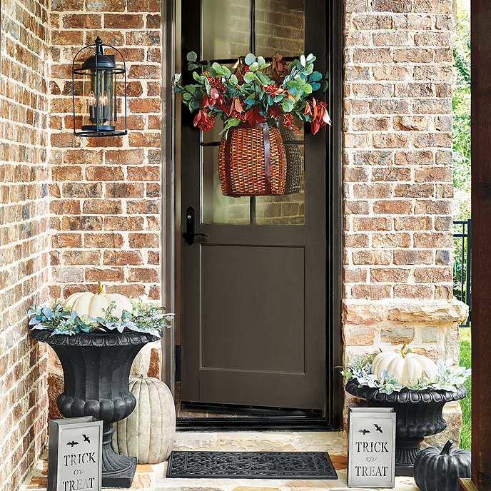main door fall decor