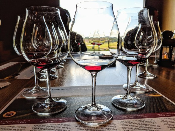 Estate Wine Flight Tasting at Willamette Valley Vineyards. Image Courtesy: Neha Wasnik