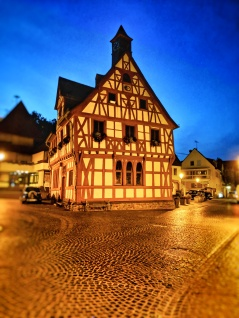 Half-timbered houeses are common in the Rheinland-Pfalz Region. This is a town of Rhens a few minutes from Koblenz on the banks of Rhine river. Image Courtesy: Neha Wasnik