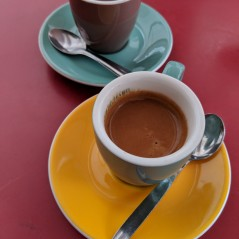 Espresso at Cafe du Marche