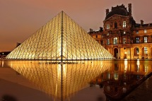 Musee du Louvre by night