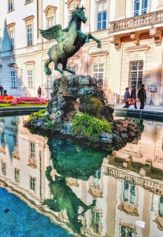 Pegasus Fountain at Schloss Mirabell Garten. Image Courtesy: Vindscape